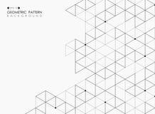 Extracto del esquema pentagonal de la estructura geométrica de la casilla negra stock de ilustración