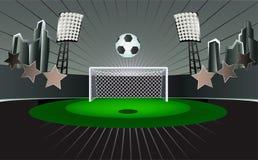 Extracto del estadio de fútbol. Imagen de archivo