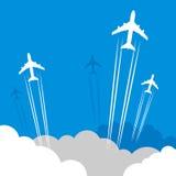 Extracto del flete aéreo del viaje o Fotos de archivo libres de regalías