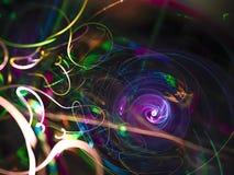 Extracto del fractal, fondo digital, poder que hace creativo, magia del hermoso diseño del misterio imagen de archivo