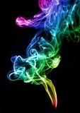 Extracto del humo del color del gradiente fotografía de archivo