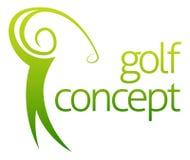 Extracto del oscilación del golf stock de ilustración
