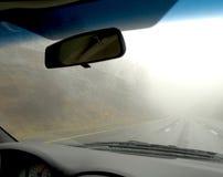 Extracto del parabrisas del coche Fotos de archivo