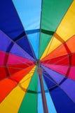 Extracto del parasol de playa Fotos de archivo