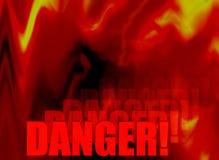 Extracto del peligro del fuego Imagen de archivo libre de regalías