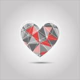 Extracto del polígono de la forma del corazón Imagen de archivo libre de regalías