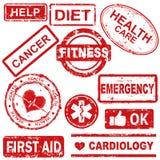Extracto del sello de goma médico libre illustration