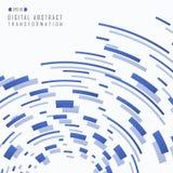 Extracto del tran digital del modelo cuadrado futurista azul de la pendiente libre illustration