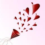 Extracto del vector del amor Fotografía de archivo