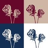 Extracto del vector del fondo de las rosas Fotos de archivo