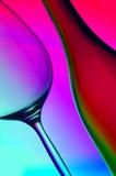 Extracto del vidrio de la botella y de vino Foto de archivo