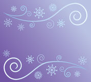 Extracto del viento y de la nieve Foto de archivo
