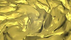 Extracto digital del fondo de la introducción de oro Onda del oro del fondo de la animación con la luz con inconsútil stock de ilustración