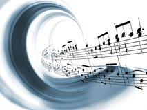 Extracto dinámico de la música Fotografía de archivo libre de regalías