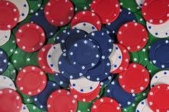 Extracto empilado de la viruta de póker Fotografía de archivo