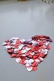 Extracto en forma de corazón del manojo del día de tarjeta del día de San Valentín fotos de archivo libres de regalías