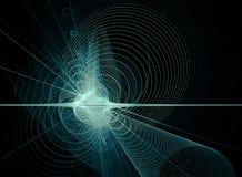 Extracto espiral azul en negro Ilustración del Vector