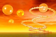 Extracto espiral. Puesta del sol libre illustration