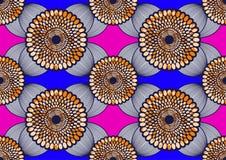 Extracto estupendo de la cera de la tela africana de la impresión de la moda de la materia textil inconsútil ilustración del vector