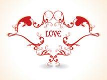 Extracto excelente con los fondos del amor Imagen de archivo libre de regalías