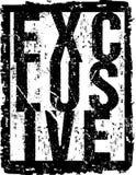 Extracto exclusivo de la tipografía del vector Fotos de archivo