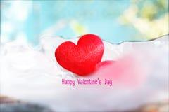 Extracto feliz del fondo del día del ` s de la tarjeta del día de San Valentín Imagen de archivo