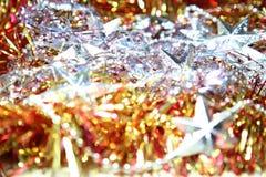 Extracto festivo del fondo para la Navidad y Año Nuevo con latas Imágenes de archivo libres de regalías