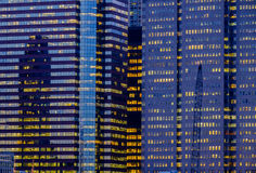 Extracto financiero de los edificios de la oficina del distrito de Manhattan Nueva York Fotos de archivo libres de regalías