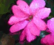 Extracto, flor rosada artsy foto de archivo