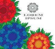 Extracto floral con el espacio para su texto Fotos de archivo libres de regalías