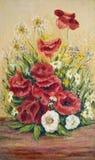 Extracto Flores del prado del verano Imagen de archivo