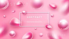 Extracto, fondo de lujo, rosado para los carteles cosméticos u otros stock de ilustración