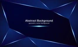 Extracto, fondos lujosos, modernos, poligonales, metálicos del vector con una mezcla de colores azules y oscuros ilustración del vector