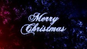 Extracto Frost Crystal Christmas, textura congelada de la Feliz Navidad de la ventana Imagen de archivo