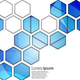Extracto geométrico del hexágono azul Imagenes de archivo