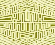 Extracto geométrico moderno tribal de la lona de pintura Imágenes de archivo libres de regalías