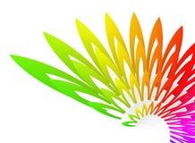 Extracto geométrico colorido Wing-shaped Fotografía de archivo libre de regalías