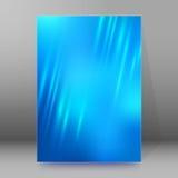 Extracto glow18 del estilo de las páginas de cubierta del folleto del informe A4 Foto de archivo libre de regalías