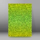 Extracto glow44 del estilo de las páginas de cubierta del folleto del informe A4 Foto de archivo