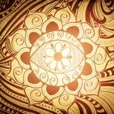Extracto Henna Color Mandala Background del ojo de Fird Foto de archivo