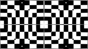 Extracto inconsútil de la secuencia del lazo del caleidoscopio blanco y negro libre illustration