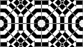 Extracto inconsútil de la secuencia del lazo del caleidoscopio blanco y negro stock de ilustración