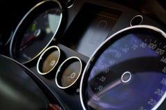 Extracto instrumental del panel del coche Fotos de archivo