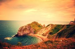 Extracto jurásico de la costa, Dorset Fotografía de archivo