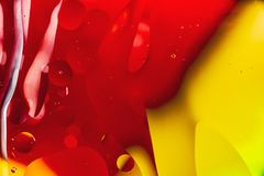 Extracto macro del arte del agua y del aceite fotografía de archivo libre de regalías