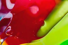 Extracto macro del arte del agua y del aceite foto de archivo libre de regalías
