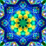 Extracto Mandala Background floral colorida de la pintura de Digitaces fotos de archivo