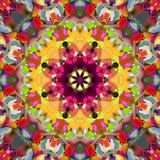 Extracto Mandala Background floral colorida de la pintura de Digitaces foto de archivo