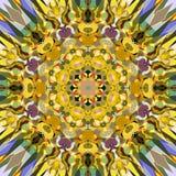 Extracto Mandala Background floral colorida de la pintura de Digitaces imagen de archivo