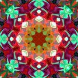 Extracto Mandala Background floral colorida de la pintura de Digitaces stock de ilustración
